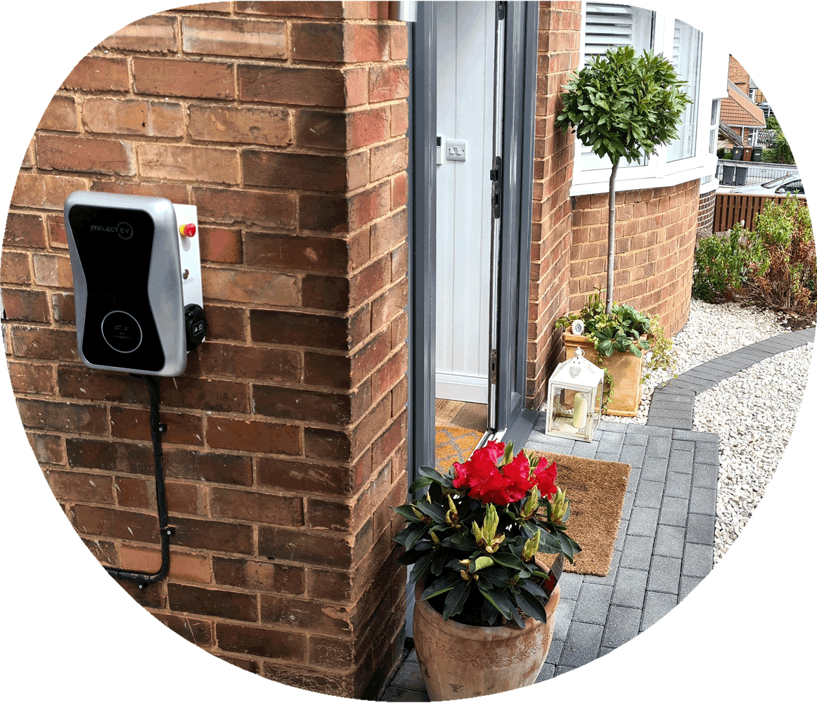 EV Charge point Project EV Install side of house